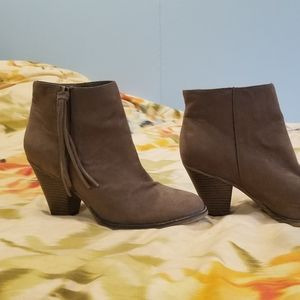 Mia brown suede heeled ankle boot
